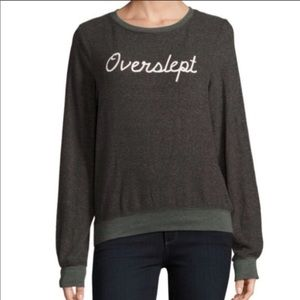 Wildfox Overslept Pullover Graphic Sweater